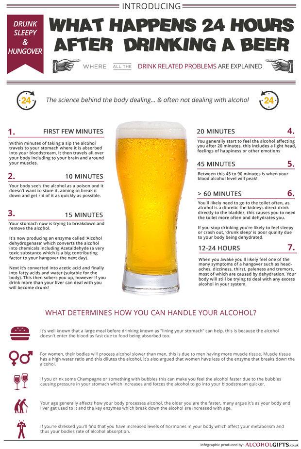 Η μπύρα στον οργανισμό. Infographic